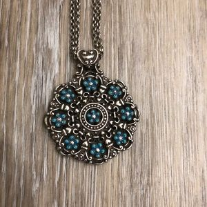 Brighton turquoise flower necklace